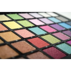 palette of eyeshadows